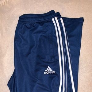 Men's Navy Adidas track pants